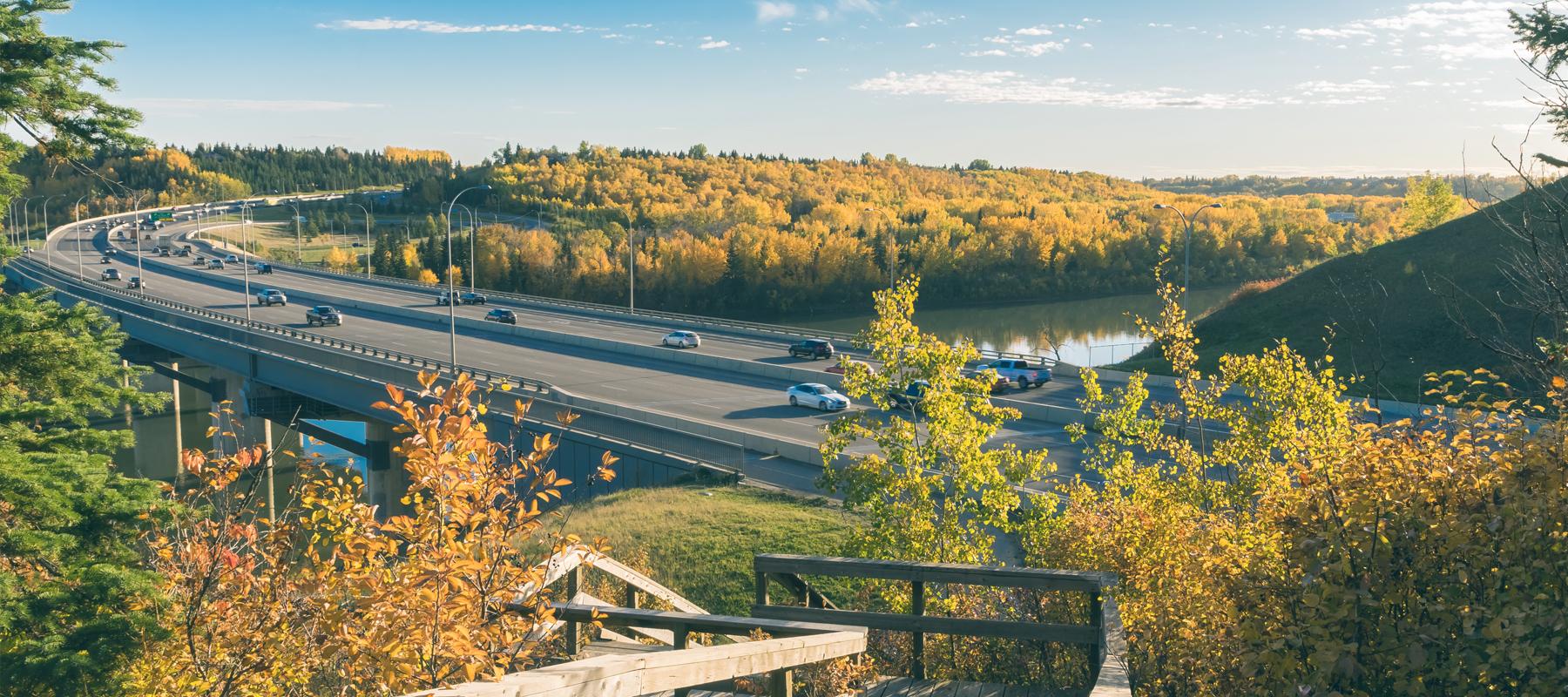 Edmonton bridge Saskatchewan river