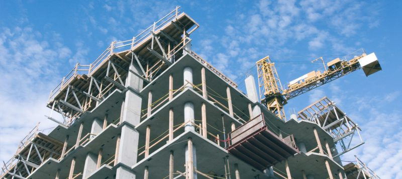 Condo building under construction
