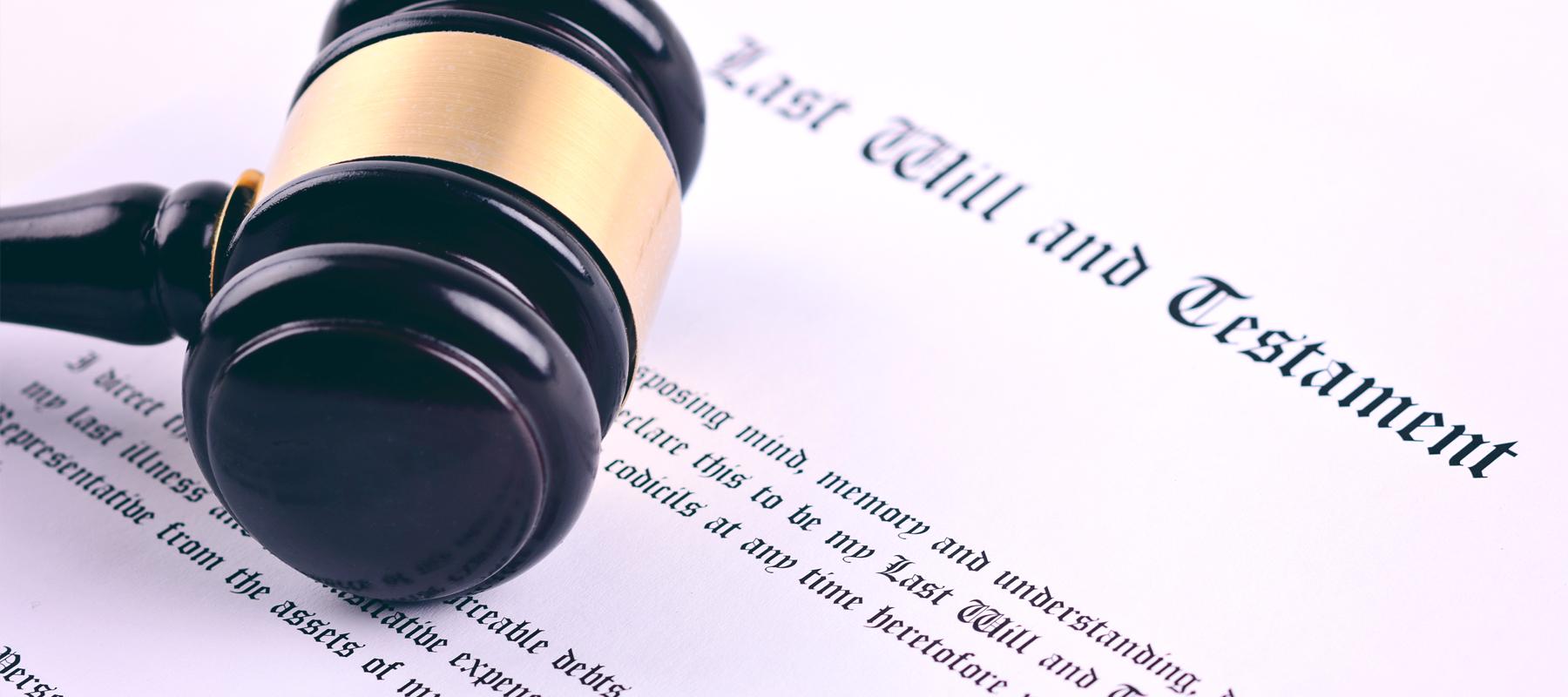 Gavel on legal documents